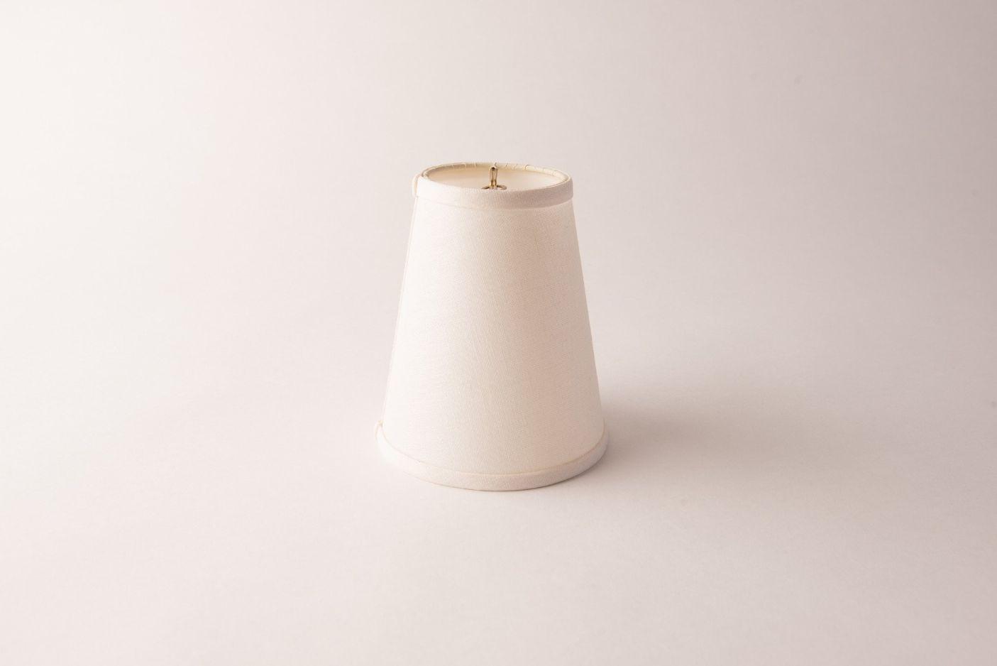 Cone White Linen Chandelier