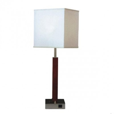 Nightstand Table Lamp with Outlets in Base