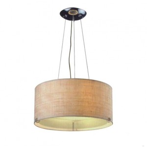 Drum Shade Pendant Lamp for Lobby
