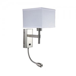 Nightstand Wall Lamp With LED Reading Light