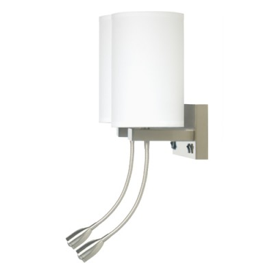 Comfort Inn and Suites Truly Yours Double Wall Lamp with LED Reading Light