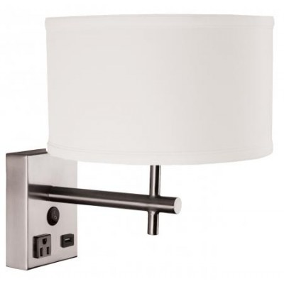 Hotel Nightstand Wall Lamp with USB Charging Station