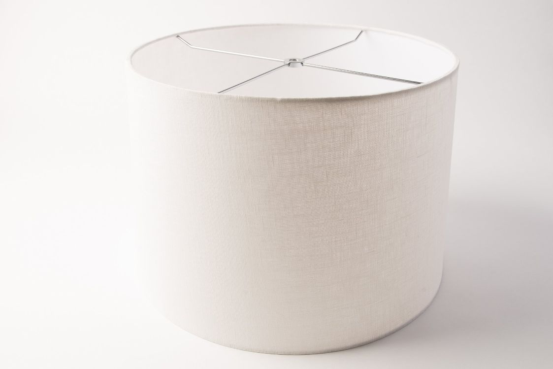 Drum Rolled Edge White Linen