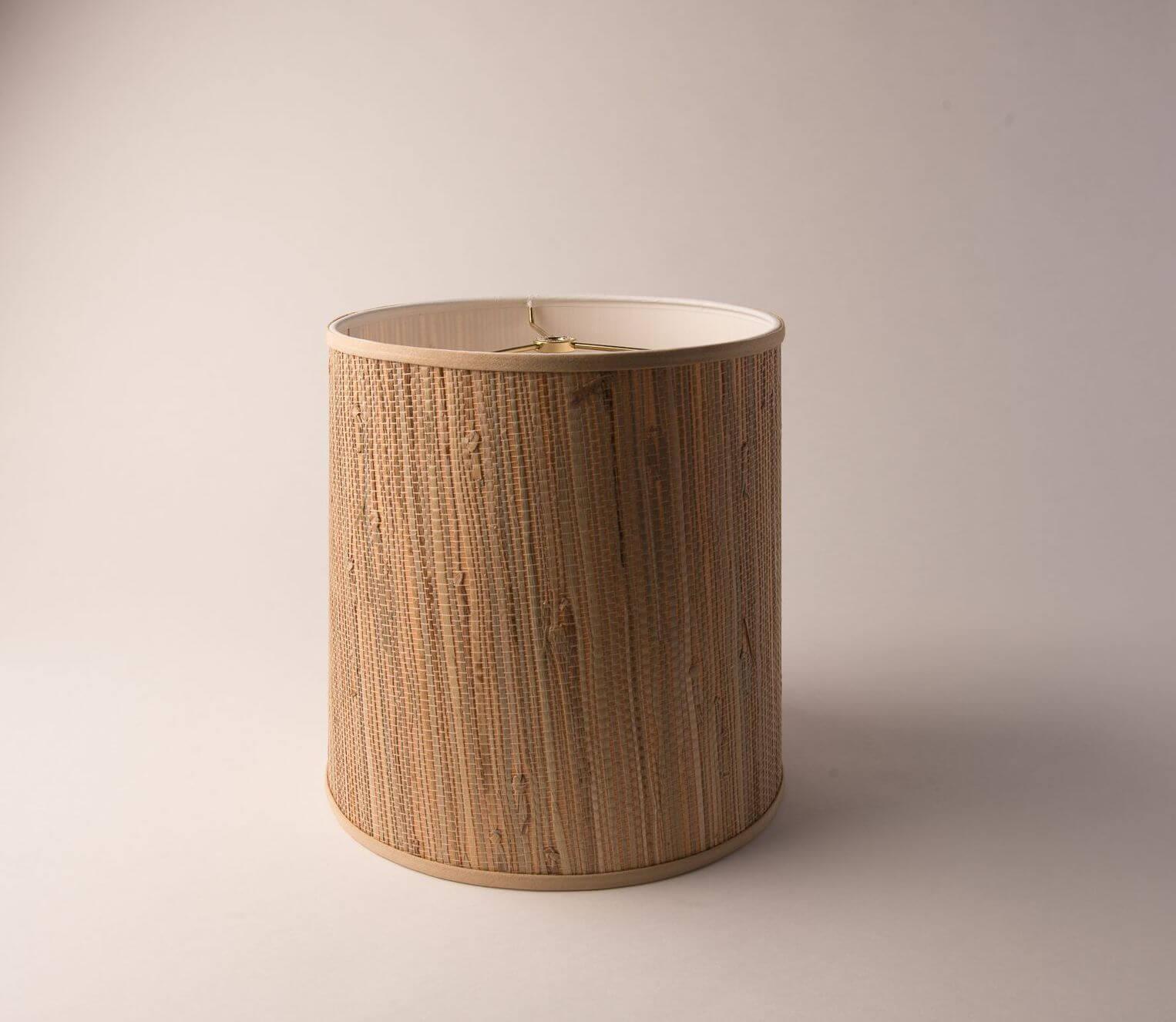 Drum Tall Tan Grasscloth