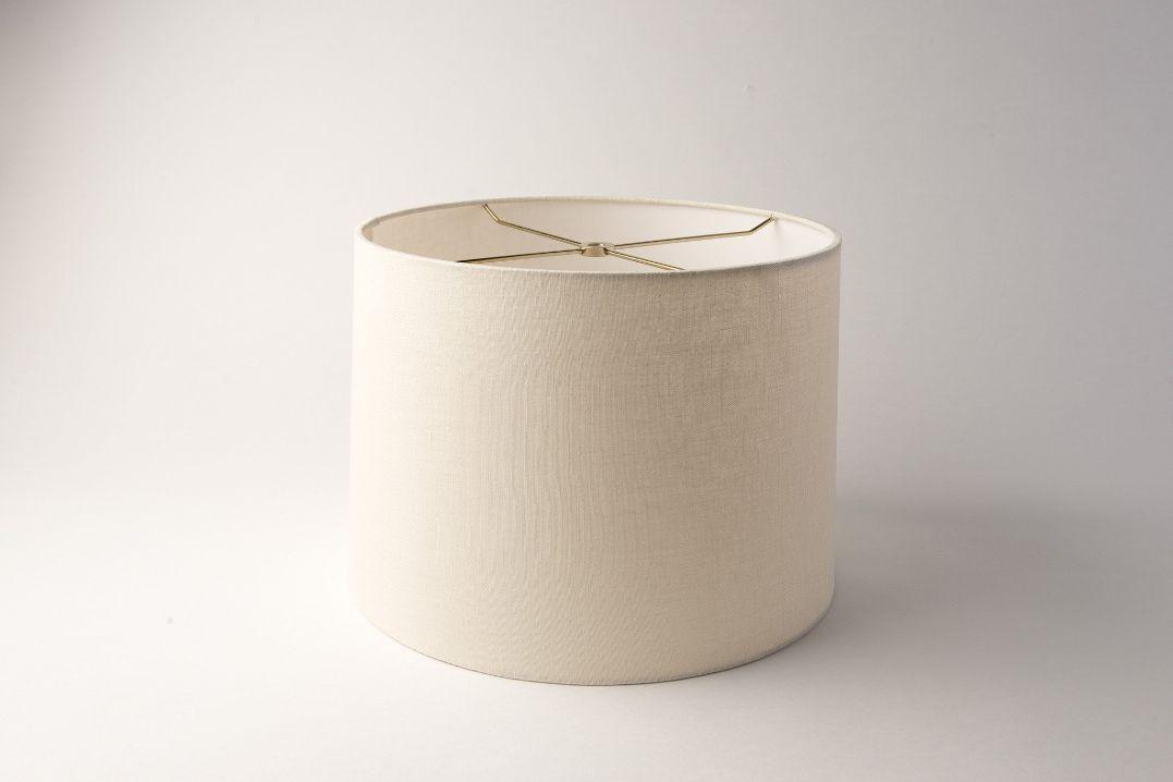 Drum Rolled Edge Eggshell Linen