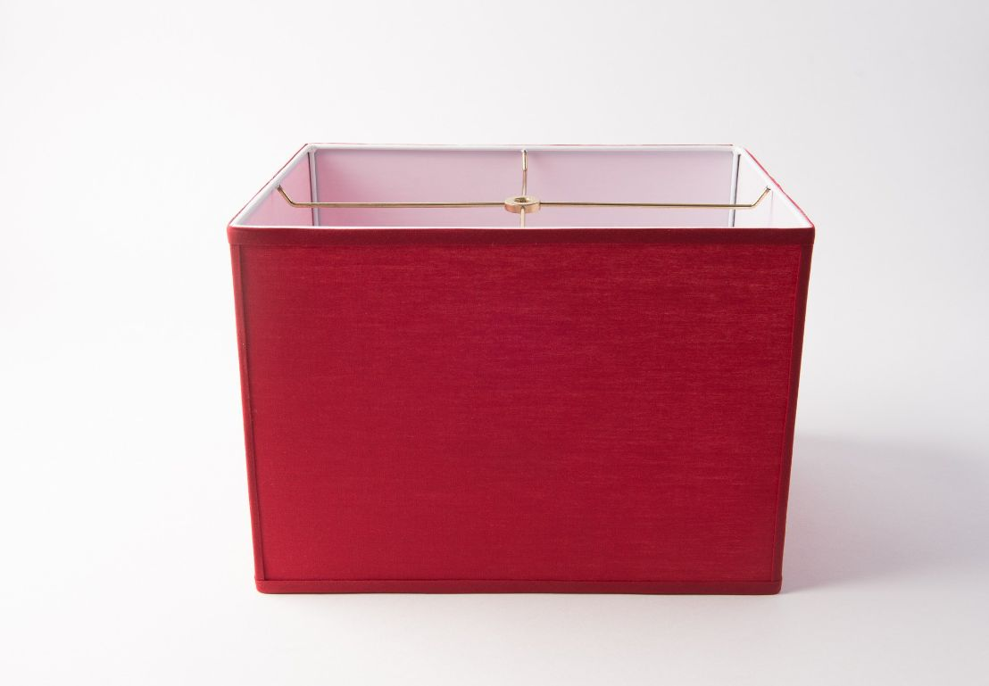 Rectangle Box Red Linen