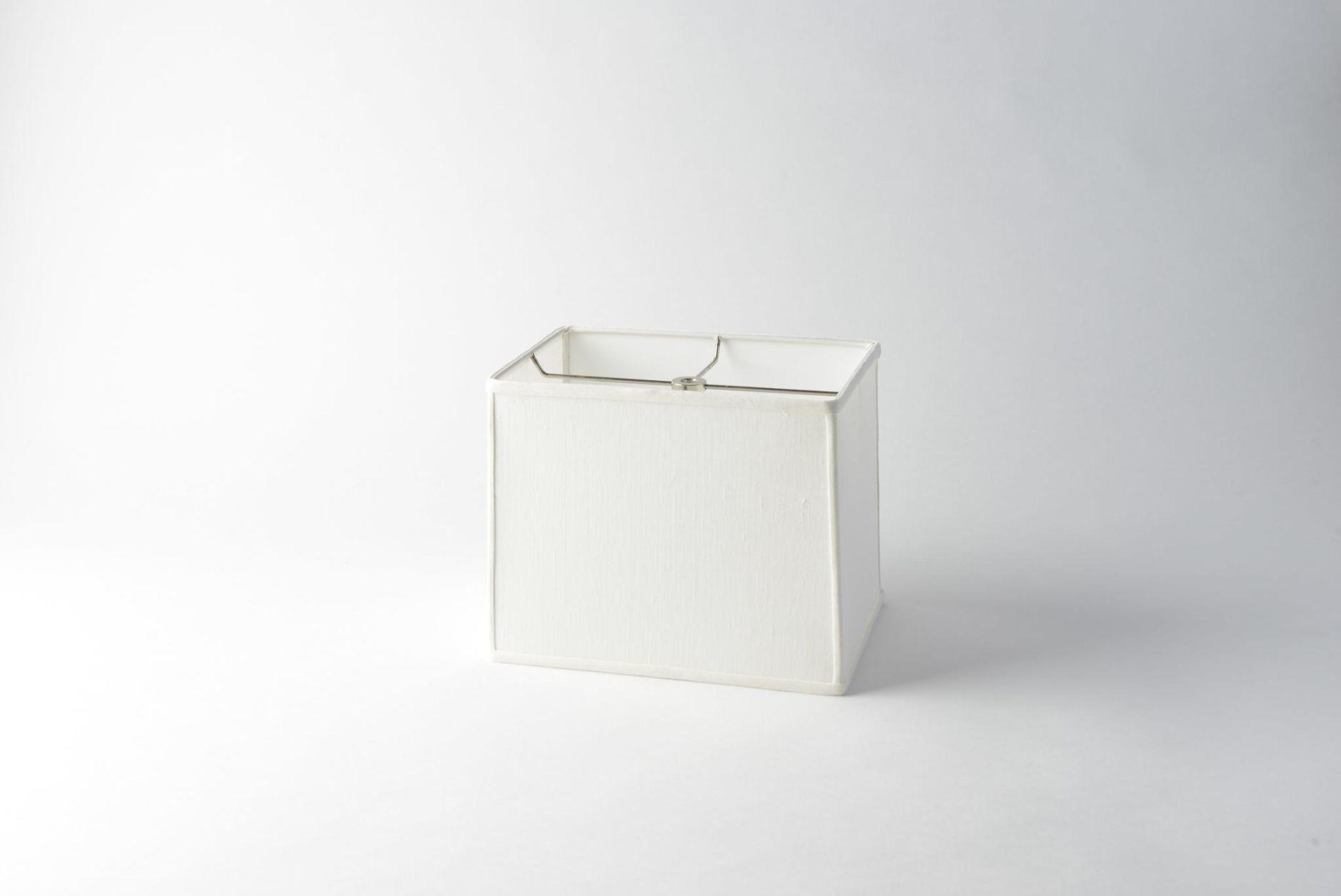 Linen Box Rectangle White
